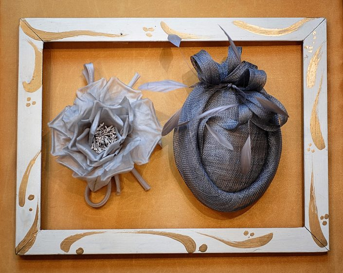 Toque artigianale e fiore in seta handmade